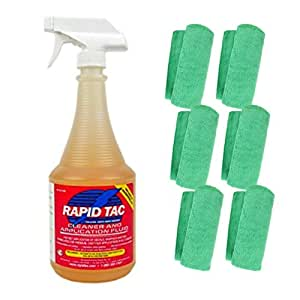 RapidTac Vinyl Wrap Application Fluid 32oz Spray Bottle Including 6 Microfiber Towels