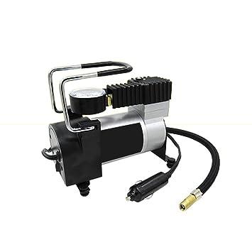 Amazon.es: Minicompresor de aire para coche, bicicleta, motocicleto, vehículo eléctrico, inflador bomba de neumáticos con indicador de presión, portátil