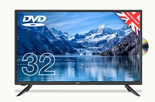 Cello ZF0223 32″ inch HD Ready LED Built in DVD with Freeview HD 2020 Model Made in the UK (New 2020 Model) Black