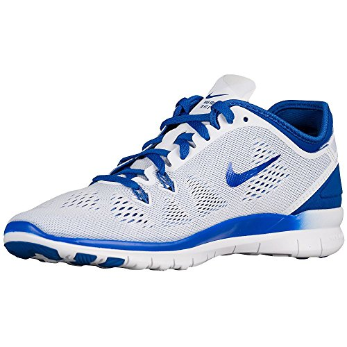 Nike Womens Gratis 5.0 Tr Fit 5 Prt Trainingsschoen Dames Ons Wit / Blauw