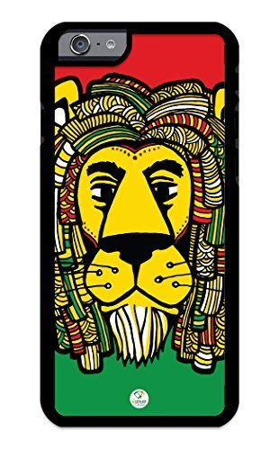 iZERCASE iPhone 6 PLUS CaseRasta Lion Funny RUBBER CASE - Fits iPhone 6 PLUS T-Mobile, Verizon, AT&T, Sprint and International