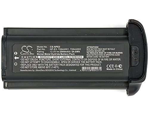 KML Battery Compatible with Canon 7084A001,7084A002,NP-E3,fit Model Canon EOS 1D,EOS 1D Mark II,EOS 1D Mark II N,EOS 1DS,EOS 1DS Mark II(1200mAh,12.00V,Ni-MH) ()