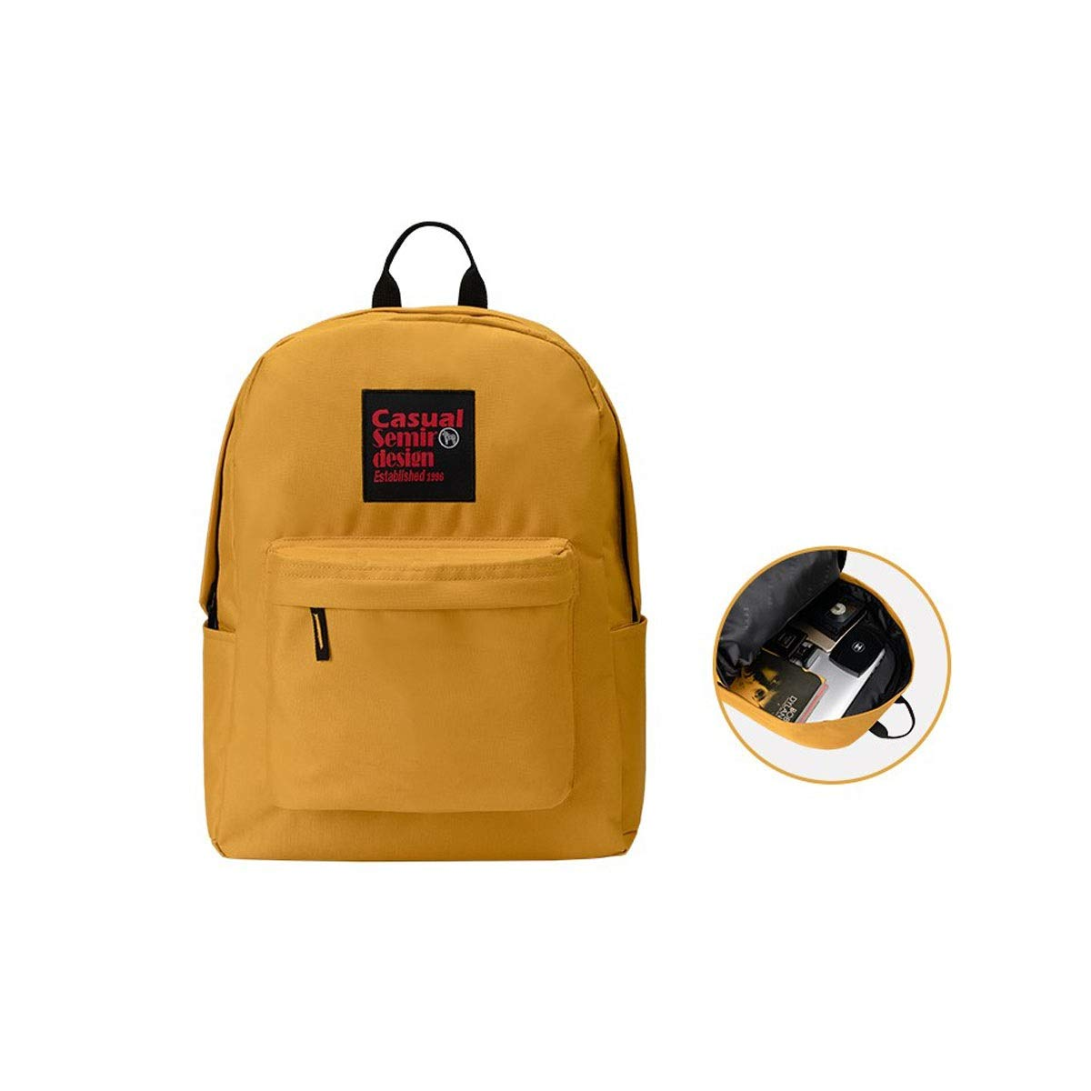 TONGBOSHI Men and Women Backpack, Leisure Campus Simple College Backpack, High School Student Bag, Four Colors Optional (Color : 3)