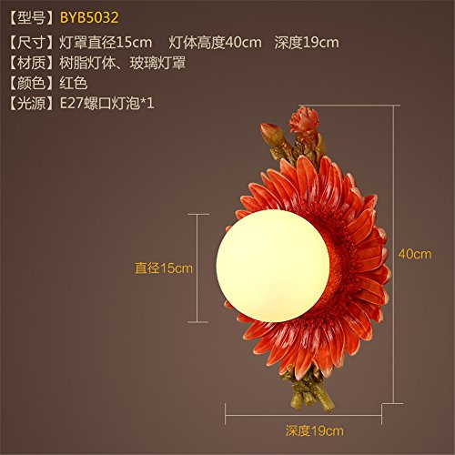 JhyQzyzqj Wall Sconce Wall Lights Living Room Aisle Bedroom Bedside lamp Staircase Balcony Room Outdoor American Simple Resin Wall Lights
