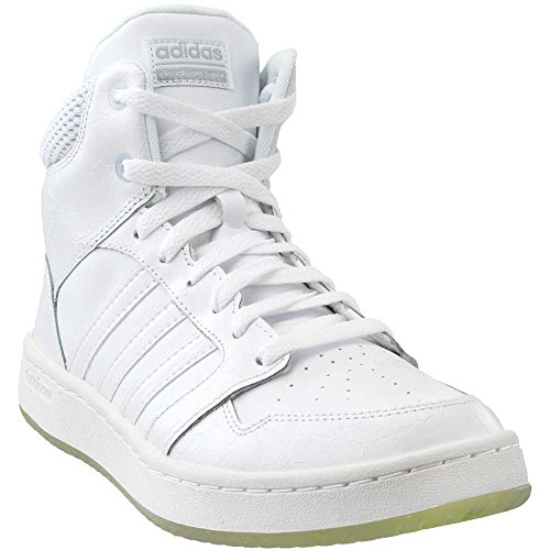adidas Neo Women's CF Superhoops Mid W Basketball.5Shoes, White/White/Matte Silver, 9 M US by adidas