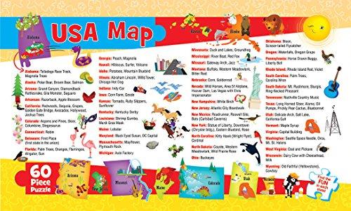 51VqT%2BRrWjL - MasterPieces Explorer Kids - USA Map - 60 Piece Kids Puzzle