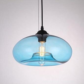 De Edison Vintage E27 Industrial VerreBleu Suspension En Lampe WYD9IEH2