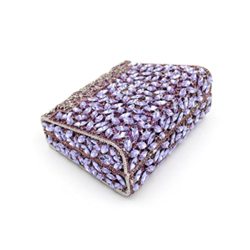 Del Borsa Lusso Donne Cristallo Della Diamante Borsa Di Della Purple Delle Sera Di Fx8BRH6twq