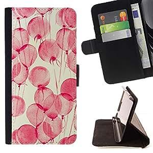 For Samsung Galaxy S5 V SM-G900 Case , Rosa de la acuarela del arte romántico- la tarjeta de Crédito Slots PU Funda de cuero Monedero caso cubierta de piel
