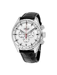 Zenith El Primero Sport Chronograph Automatic Silver Dial Brown Leather Mens Watch 03228040001C713