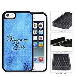 Dreamer Girl Geometric Triangles Blue Nebula iPhone 5 5s 2-piece Dual Layer High Impact Black Silicone Cover wangjiang maoyi