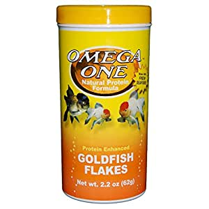 Omega One Goldfish Flakes, 2.2 oz.