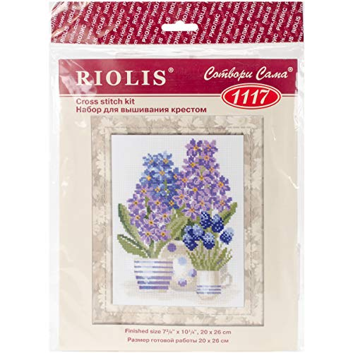 - RIOLIS 1117 - Hyacinths - Counted Cross Stitch Kit 7.75