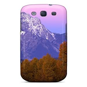 Tpu Case Cover For Galaxy S3 Strong Protect Case - Beautiful Gr Tetons At Autumn Design