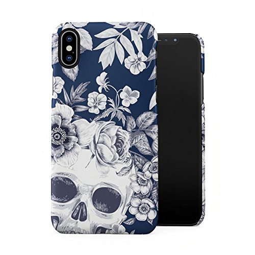 Tropical Floral Dead Pirate Skull Indie Hype Hipster Tumblr Plastic Phone Snap On Back Case Cover Shell for iPhone X, iPhone Xs