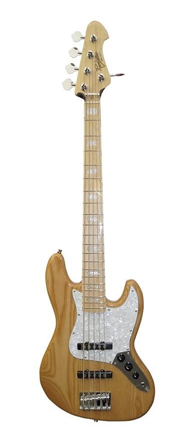 Revelation rbj-67-dlx5 Deluxe de 5 cuerdas, acabado natural de guitarra eléctrica