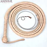 BULL WHIP 08 Feet 12 Plaits Cow Hide Leather CUSTOM BULLWHIP Belly and Bolster Construction