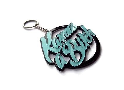 Halo accessoreis Karma Keyring - Llavero Mujer plateado ...