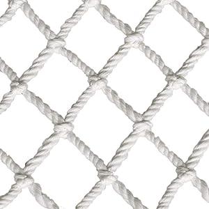 DENGJU Outdoor Garden Plant Climbing Net Decor Net, White Indoor Child Safety Net for Balcony Banister Stair Rail, Kindergarten Fence Anti-Drop Net for Kids Protection (Size : 3X4M(10X13FT))