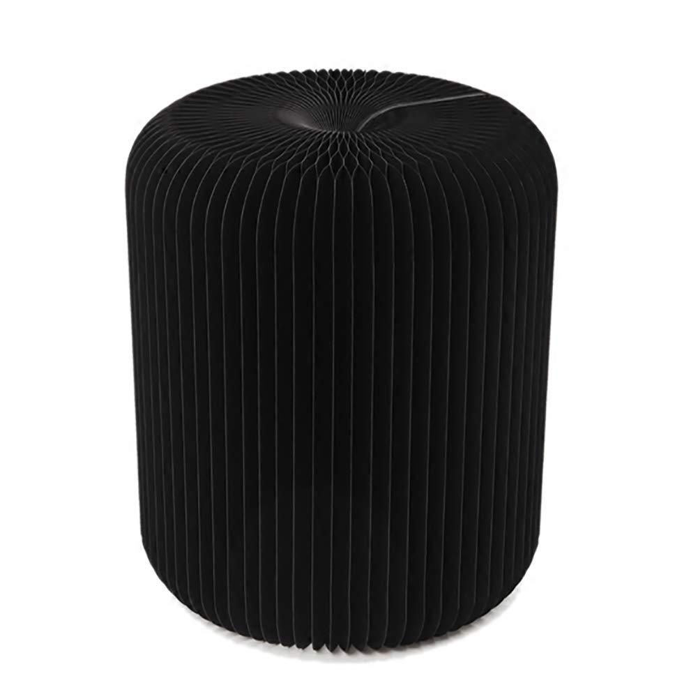 Multifunktion Möbel Falten niedrig Schemel Stuhl Schwarz Kraft Papier Material Keine Montage erforderlich