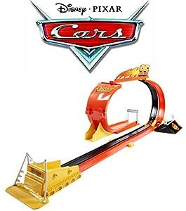 Mattel Disney Cars Riplash Racers Looping Rennbahn inkl. Lightning McQueen Auto