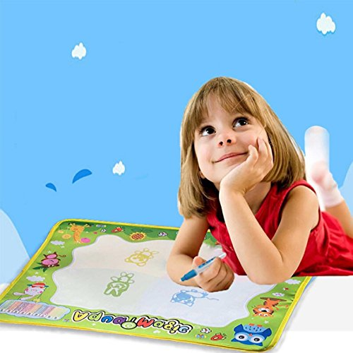 Price comparison product image Owill Baby Casual Water Drawing Painting Writing Mat Board Magic Pen Doodle Gift (A, Multicolor)