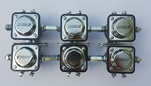Accumax solenoids set of 6 with coupling nuts Included low rider & more USA MADE