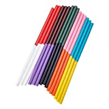 PH PandaHall 100PCS 10-Color Hot Gule Stick 7 x 100mm Hot Melt Adhesive Glue Gun Sticks Mini Glue Sticks DIY Art Craft