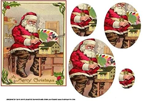 Immagini Babbo Natale Vintage.Vintage Di Babbo Natale In Officina Pyramid By Carol Smith