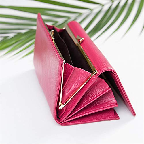 Women's Wallet Casual fold Simple Tri Cell Red Color rabbit Red Phone Rose Long Lovely Bag xTHnfE