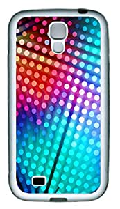 Samsung S4 Case Colored Dots Background TPU Custom Samsung S4 Case Cover White