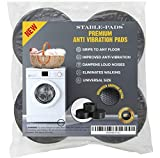 STABLE-PADS Rubber, Non-Slip, Anti-Walk, Anti-Vibration Pads for Washer & Dryer. Perfect for Vibration Isolation & Noise Reduction On Washing Machine & Dryer Appliances | Fits All Models