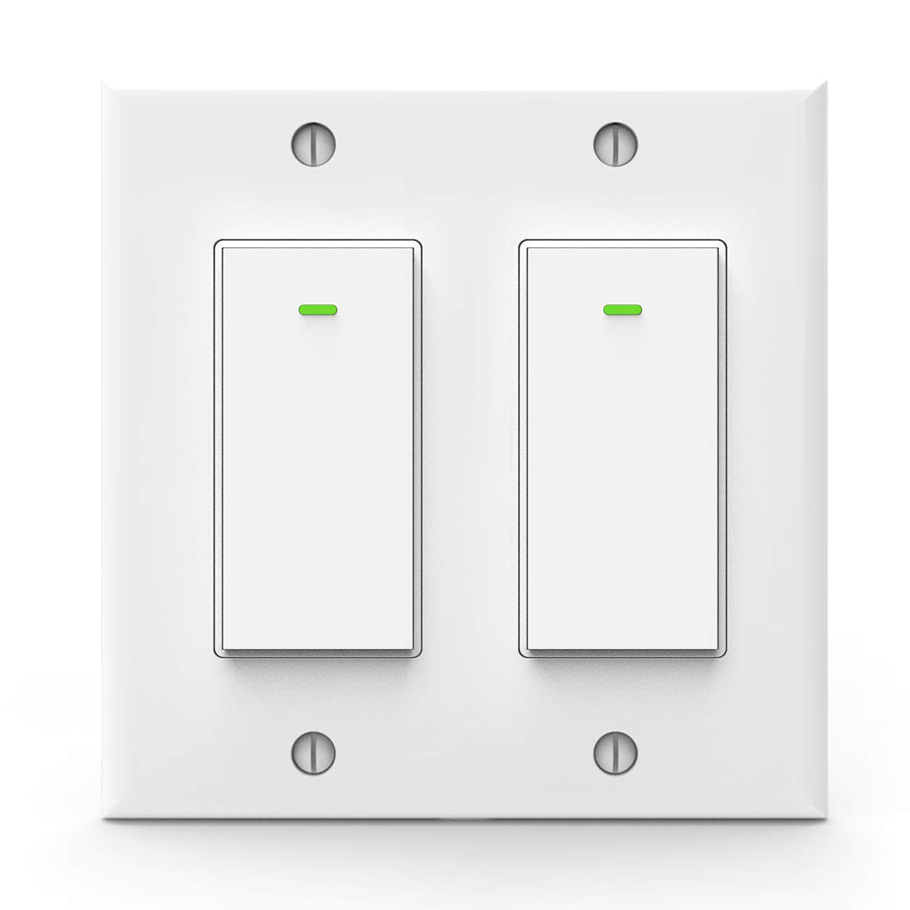 Alexa Light Switch, Double Smart Wifi Light Switches, Smart Switch 2 Gang Works with Google Assistant and IFTTT