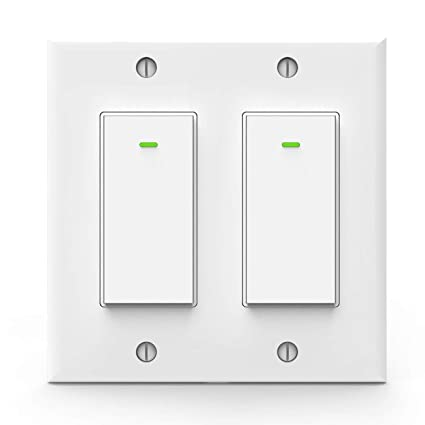 Smart Light Switch >> Alexa Light Switch Double Smart Wifi Light Switches Smart Switch 2