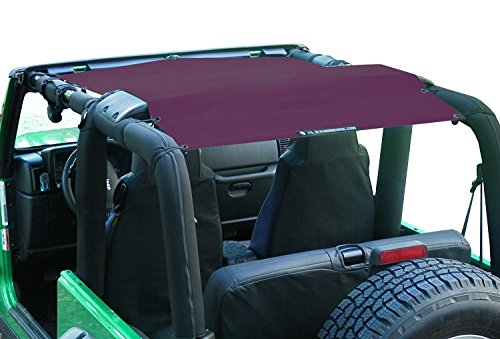 ALIEN SUNSHADE Jeep Wrangler Mesh Shade Top Cover with 10 Year Warranty Provides UV Protection for Your TJ (1997-2006) (2001 Red Wine)