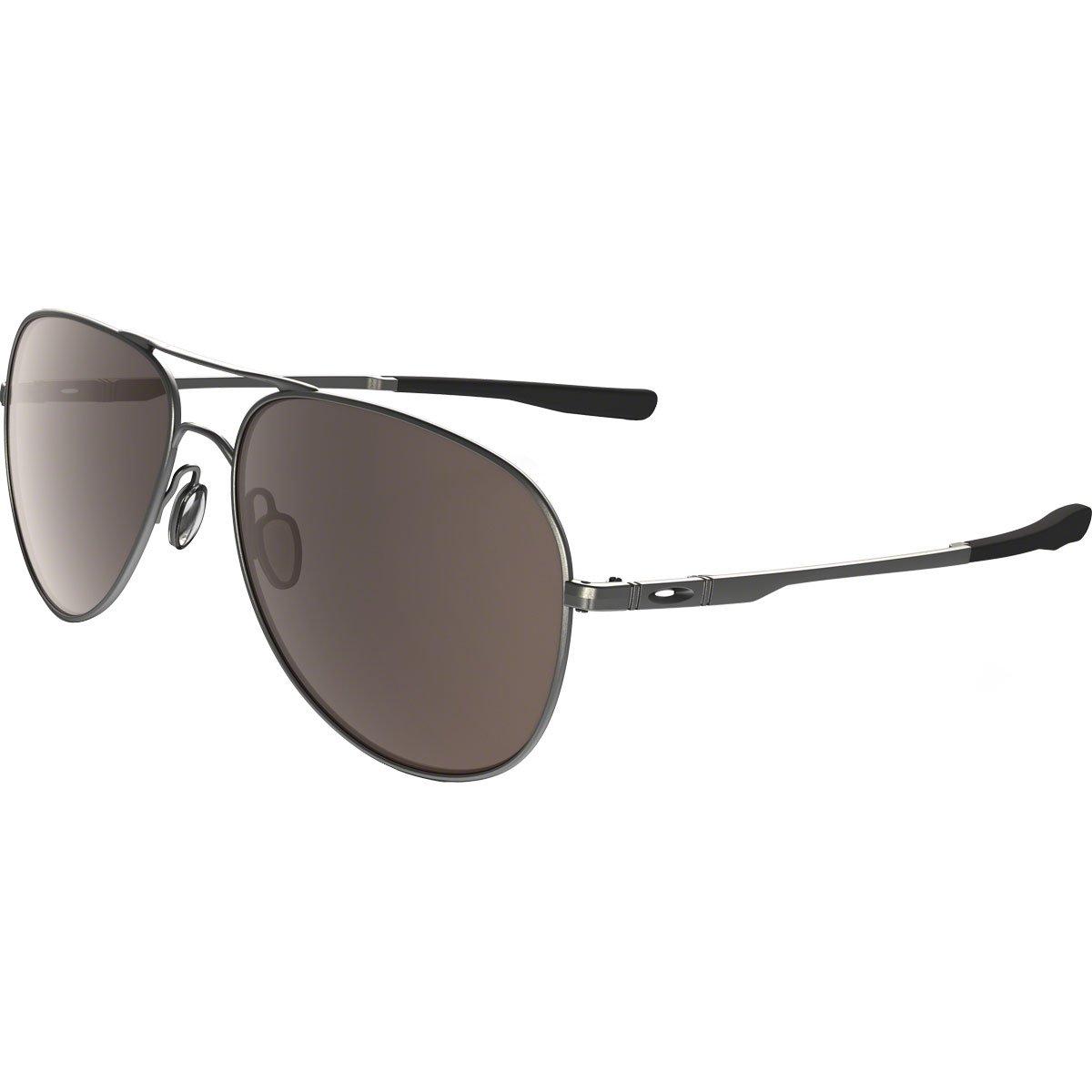 Oakley OO4119 Elmont Round Metal Sunglasses, Gunmetal/Warm Grey, 60 mm by Oakley