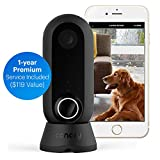 Canary Flex Indoor Outdoor WiFi HD Home IP CCTV Security Camera + 1-Year Premium Service Plan   Home Surveillance   Night Vision, Weatherproof, Wireless or Plug in, Flexible   Motion Alerts, Black