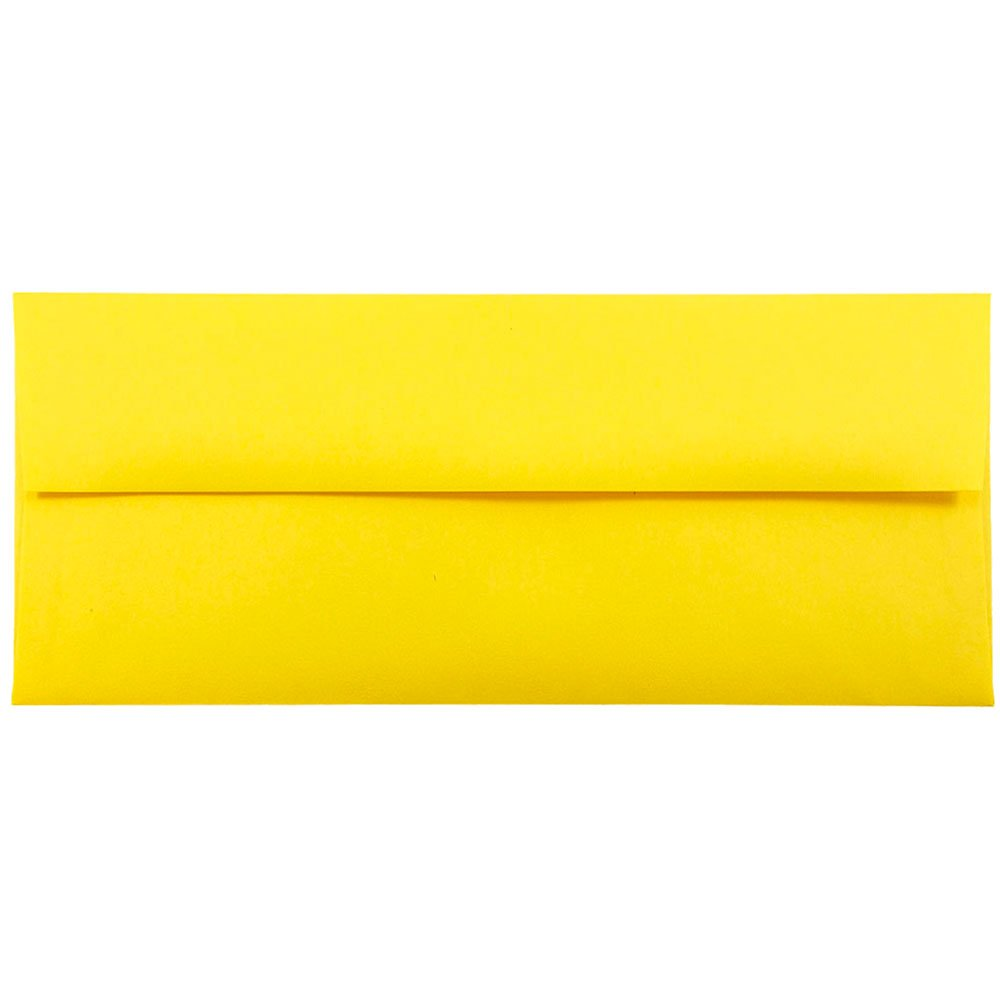 JAM Paper A6 Invitation Envelopes- 120.6 x 165mm|4 3/4 x 6 1/2 - Brite Hue Yellow Recycled- 50/pack JAM Paper & Envelope