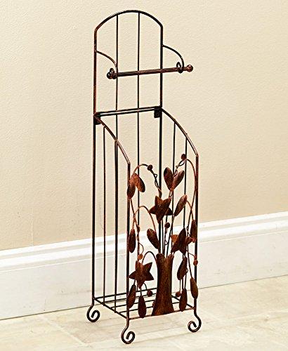 Leaf Toilet Tissue Holder (The Lakeside Collection Bronze Country Toilet Tissue Holder)