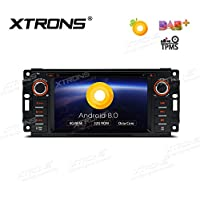 XTRONS 6.2 Inch Android 8.0 Octa-Core 4G RAM 32G ROM Capacitive Touch Screen Car Stereo Radio DVD Player Wifi CANbus Screen Mirroring Function OBD2 DVR TPMS for Jeep Dodge Chrysler