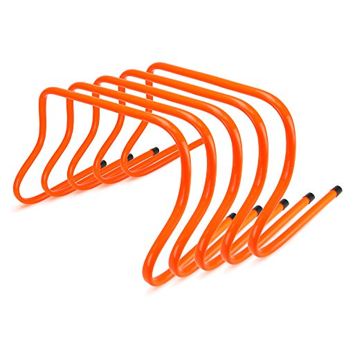 Crown Sporting Goods 12-inch Speed Agility Training Hurdles, Pack of 5 (Best Track Spikes For Hurdles)