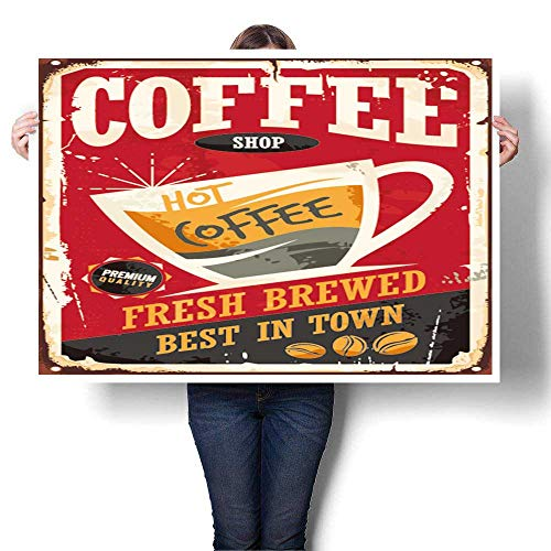 SCOCICI1588 Wall Art Painting Coffee Shop Retro tin for sale  Delivered anywhere in USA