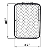 MTB Black Coated Chain Link Fence Gate 48-inch