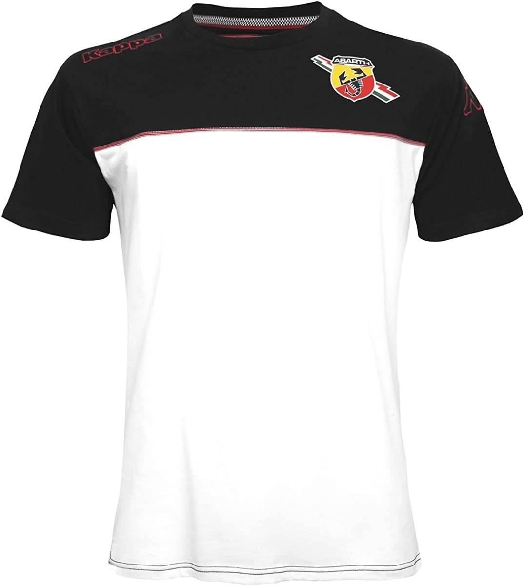 Kappa T-Shirt - Vauriony Abarth - White-Black - XS: Amazon.es ...