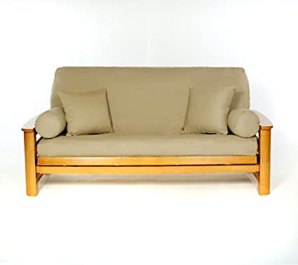 Buy Lifestyle Covers Khaki Full Size Futon Cover Online at Low