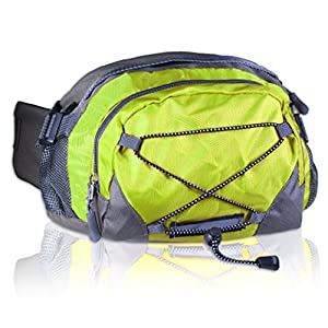 Basico Dual Hydration Fanny Pack Waist Pack (Holds Two Water Bottles -Lime)