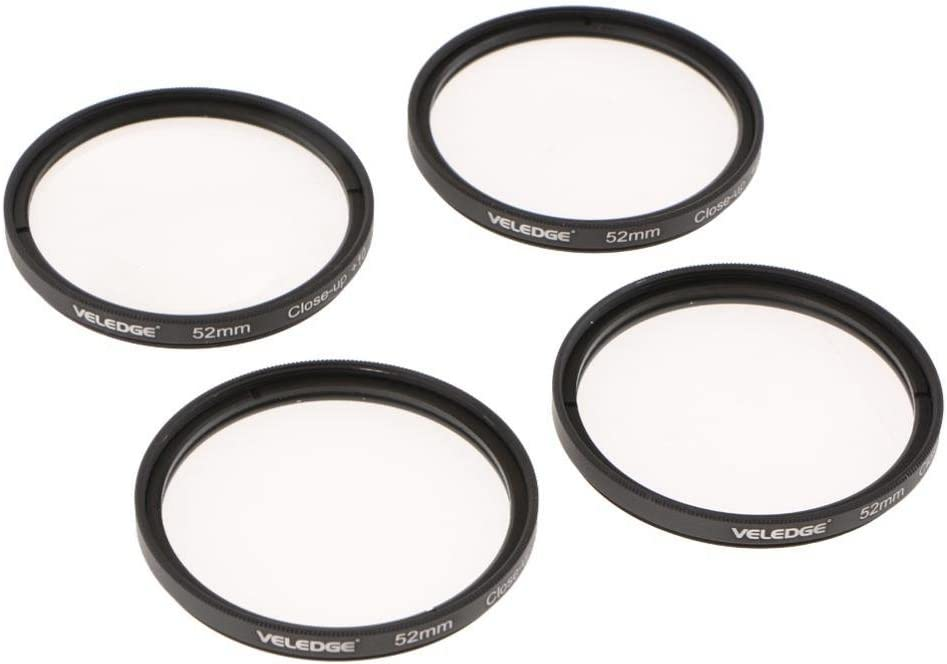 1+2+4+10 Close Up Macro Lens Filter Kit with Bag for Canon Sony Almencla 52mm