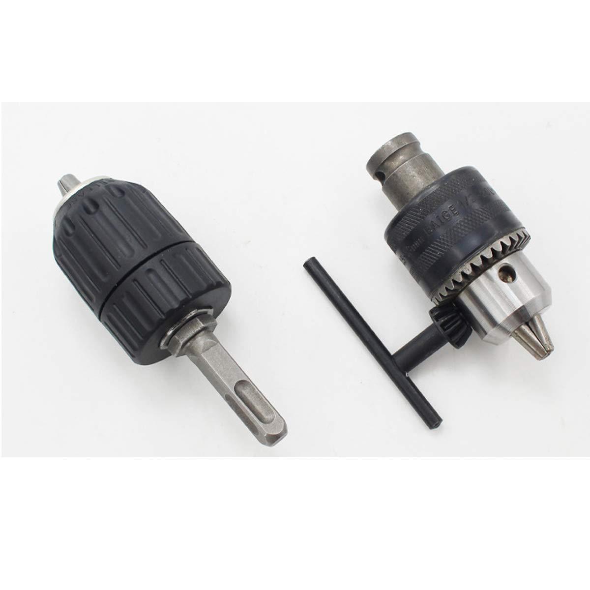 20UNF Kit di utensili per convertitori di mandrino con chiave precisa con adattatore per presa resistente da 1//2 1//4 SDS-Plus e attacco esagonale 8pcs 1//2 1,5-13 mm chiave per mandrino da 13mm