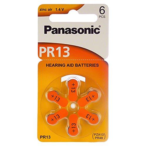 1.4v Zinc Air Battery - Panasonic Hearing Aid Batteries 1.4 Volt Zinc Air Size 13 (6 Batteries)