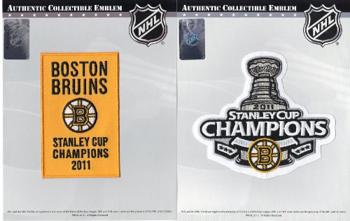 2011 NHL Stanley Cup Final Champions & Championship Banner Jersey Official Patch Boston Bruins